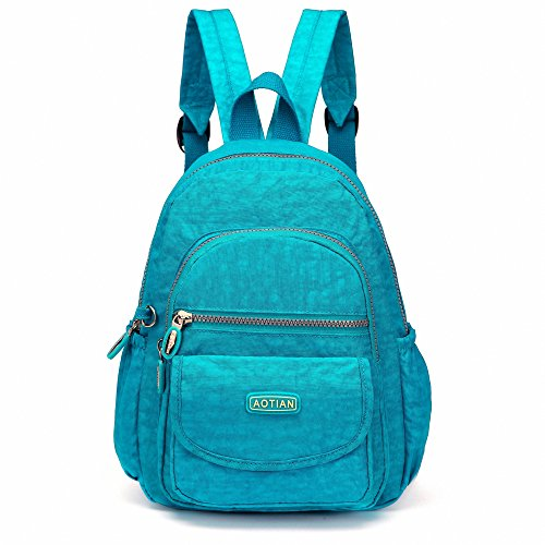AOTIAN Mini Nylon Women Backpacks Casual Lightweight Strong Small Packback Daypack for Girls Cycling Hiking Camping Travel Outdoor Wake Blue