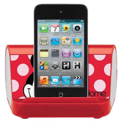 Minnie Mouse Portable Stereo Speaker for all MP3 Players, DM-M9