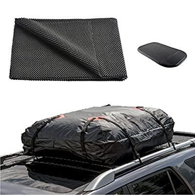 """ONEST Car Roof Cargo Carrier Protective Mat, Non-slip Roof Rack Pad Work with Roof Rack Crossbar Basket Roof Box Bag Luggage Carrier for Truck SUV Car Van Sedan (39""""x36"""")"""