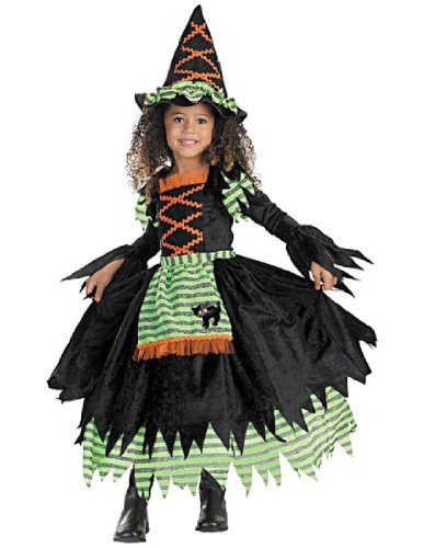 Good Witch Girl Costume (Story Book Witch Costume - Medium (3T-4T))