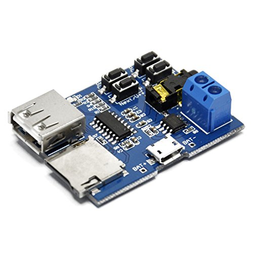 - Gikfun TF Card U Disk MP3 Format Decoder Board Amplifier Decoding Audio Player Module AE1145