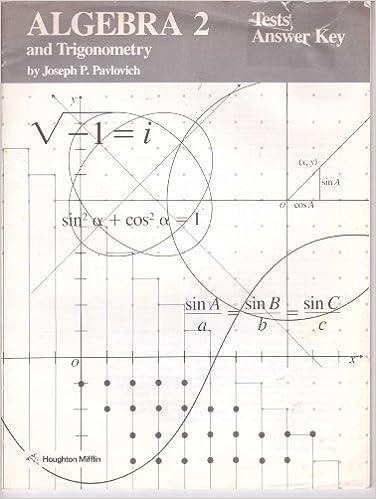 Algebra 2 And Trigonometry TESTS ANSWER KEY Houghton