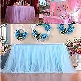 TAOtTAO 1pc Table Skirt Cover Birthday Wedding Festive Party Decor Table Cloth (J)