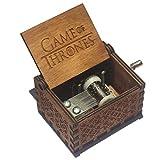 FLASHDOG Game of Thrones Theme Handmade Engraved Wooden Music Box - For Merry Christmas Theme