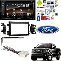 Kenwood 2Din DDX25BT 6.2 Touchscreen Car DVD CD Stereo W Bluetooth Pandora Metra 95-5812 Double DIN Dash Kit for Select 2004-2011 Ford Installation Stereo