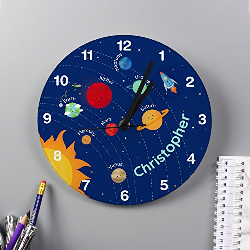 21cd20347a163 Kiddiewinkle Gifts Personalised Boys Wall Clock
