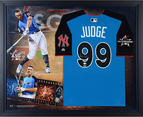 Aaron Judge New York Yankees Framed Autographed Majestic 2017 Home Run Derby Authentic Jersey Collage - Fanatics Authentic Certified (Derby Jersey)