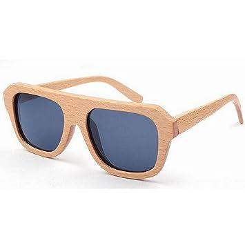 Junjiagao Gafas de Sol de Mujer Gafas de Sol de Madera Gafas ...