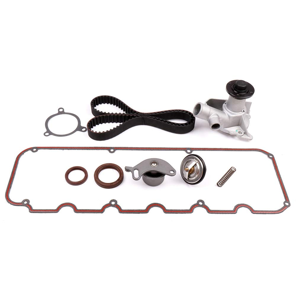 OCPTY Timing Belt Kit Including Timing Belt Water Pump with Gasket tensioner Bearing etc Compatible for BMW E30 325is 1982-1988 2.5L 2.7L