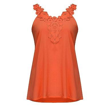 Chaleco de Mujer Camiseta Sin Mangas Color sólido Espalda Abierta ...