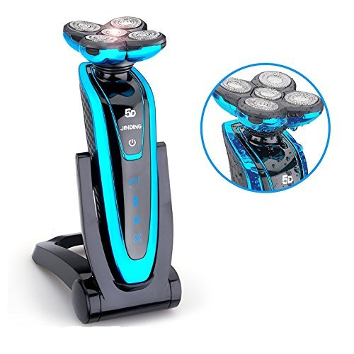 Electric Shaver,Lyyes Jinding Rotary Shaving Razor for Men with 5D Floating Head Cordless Shaver Electric Razor USB Rechargeable Hair Trimmer