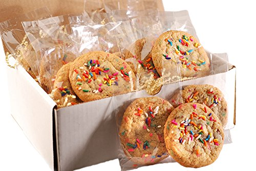 (Poppie's Gourmet Rainbow Party Cookie Pack featuring Three Types of Chocolate Chunks and Sprinkles (12 individually wrapped cookies))