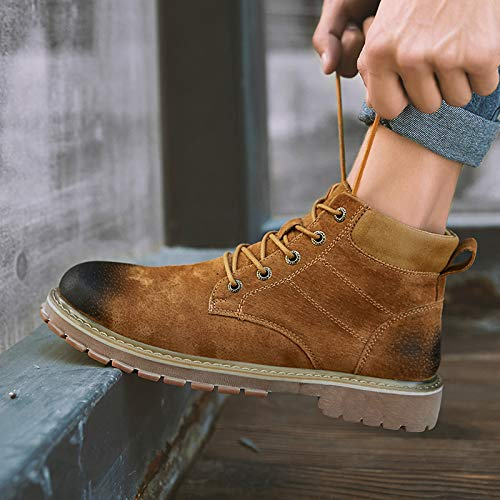 Shukun Herren Stiefel Herbst Pu Martin Stiefel Herren Stiefelies High, um Männer Schuhe Wild High Hilfe Werkzeug Stiefel zu helfen