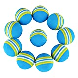 Patgoal 10 Pack Rainbow Soft Foam Play Balls Colorful Ball Toy for Pet Dog Cat (Blue S)
