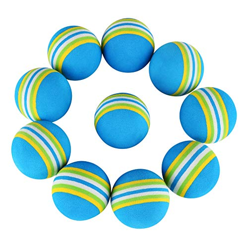 Patgoal 10 Pack Rainbow Soft Foam Play Balls Colorful Ball Toy for Pet Dog Cat (Blue S) by Patgoal (Image #7)