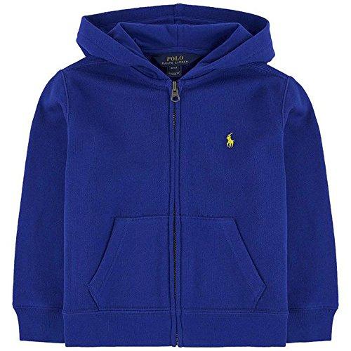 Ralph Lauren Polo Boys Blue Classic Full Zip Hoodie Sweatshirt (5) (Boys Lauren Sweatshirt Ralph)