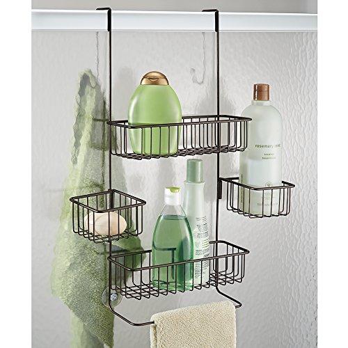 Interdesign metalo organizador para colgar sobre for Organizador para ducha