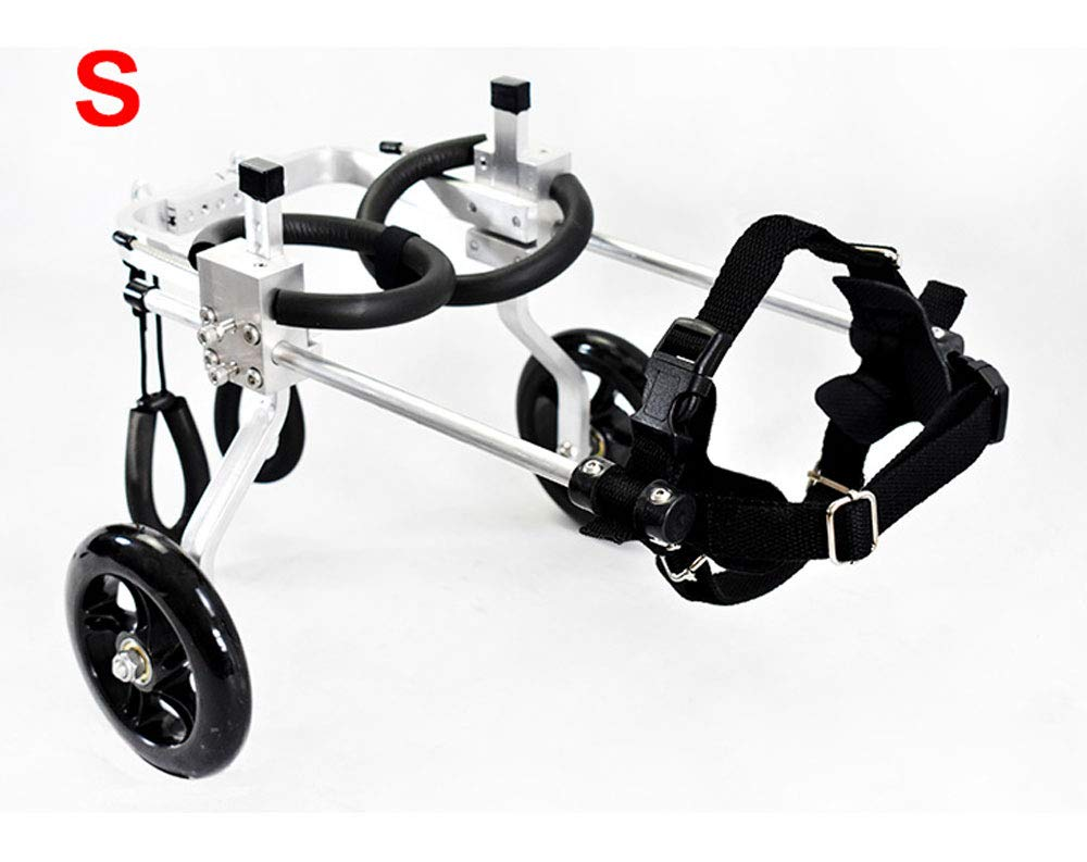 S-03 Dog cart, suitable for pets, limb injury, assisted walking, large small dogs, adjustable, 2 wheels, 1.5 kg (3.3 lbs) 50 kg (110 lbs), available in a variety of sizes ( Size   S-03 )