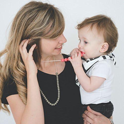 Mama /& Little Deila Silicone Teething Necklace Bubblegum