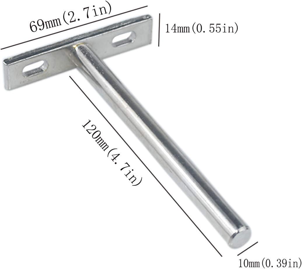 soporte de estante de madera 4pcs 5inch Soportes flotantes para estantes invisibles ocultos para montar en la pared