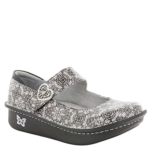 Alegria Paloma Women's Slip On 44 M EU Black-White-Grey by Alegria