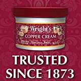 Wright's Copper and Brass Cream Cleaner - 8 Ounce - Gently Cleans and Removes Tarnish Without Scratching