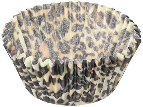 Oasis Supply Baking Cups, Standard 50-Count, (Cupcake Liners Cheetah)
