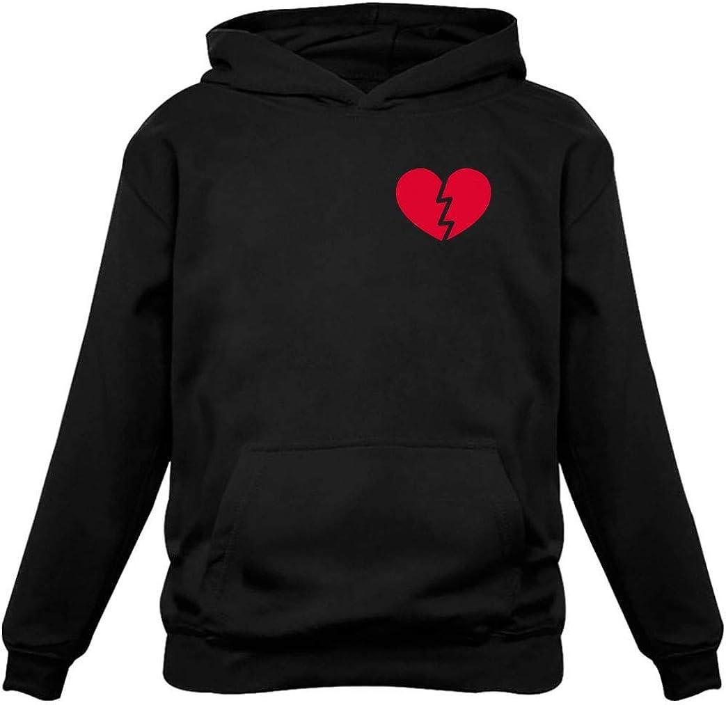 Tstars - Valentien's Day for Singles Broken Heart Pocket Hoodie