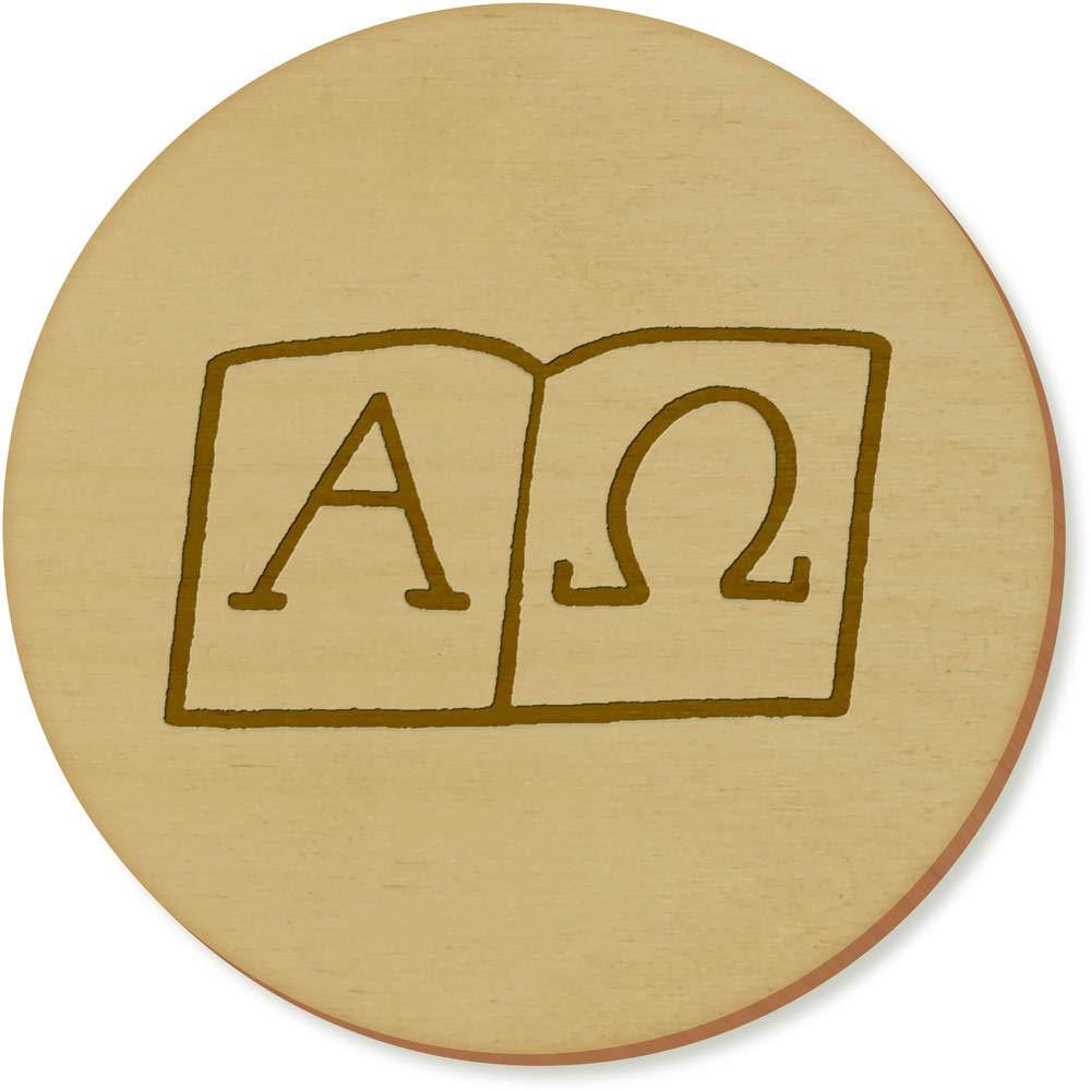 6 x Símbolos Alfa y Omega Redondo Posavasos (CR00099856): Amazon ...
