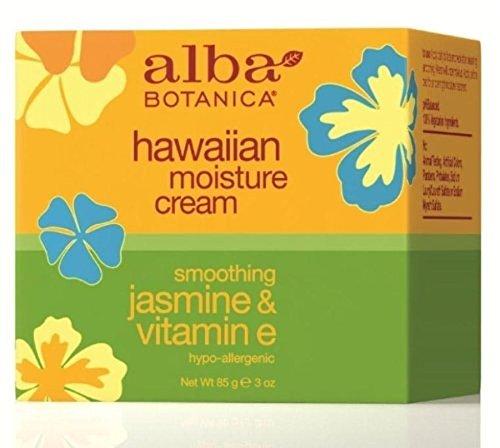Alba Botanica Hawaiian Moisture Cream, Soothing Jasmine & Vitamin E 3 oz (Pack