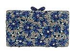 Yilongsheng Womens Flower Designer Clutch Handbags with Crystal L-9462
