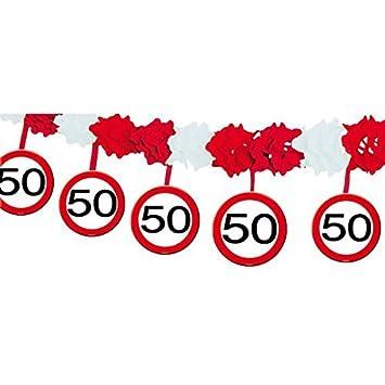 Absperrband Verkehrsschild Zahl 50 Geburtstag Deko Dekoration Feier