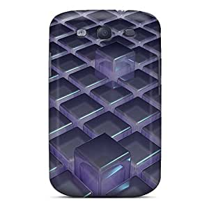 Flexible Tpu Back Cases Covers For Galaxy S3 - 3d Cubes