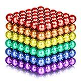 216 piezas de bolas magnéticas para escultura de cerebro, juguetes de oficina intelectual, alivio de la ansiedad y el estrés, rompecabezas creativo educativo para niños y adultos (6 colores, 5 mm)