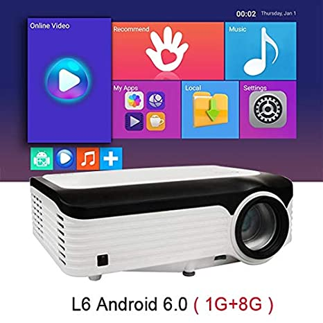 Mini proyector 1080p, Full HD Native 1920 * 1080 Portable ...