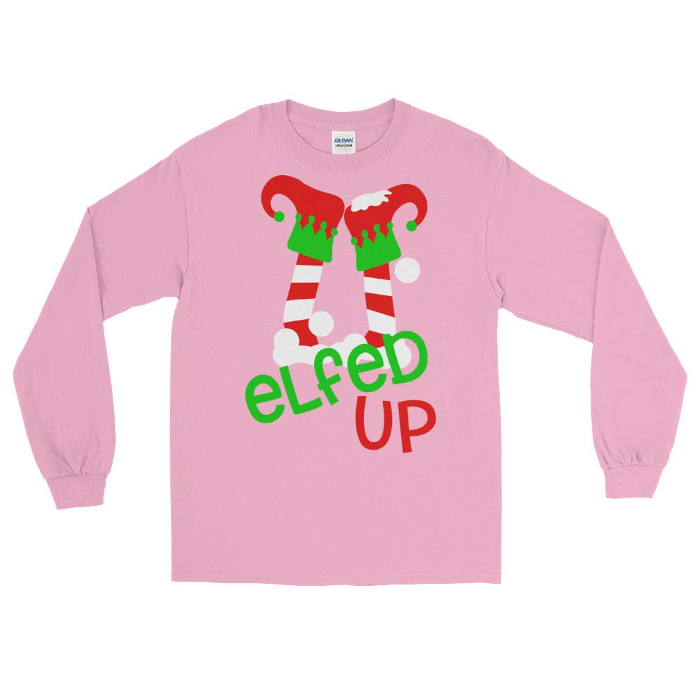 Arkansas Made Elfed Up Funny Elf Legs Christmas Holiday Long Sleeve T-Shirt