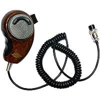 SUNDELY Wood Grain Handheld/Hand Shoulder Noise Cancelling Microphone Speaker for Cobra Uniden Midland CB Ham Radio 4-pin HG-M84W