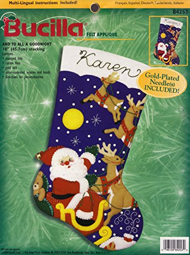 "Bucilla ""And To All A Goodnight"" Felt Applique Stocking Kit 84253"