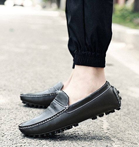 YiJee Homme Slip Noir on Conduite Chaude Loisirs Moccassins Loafers de Chaussures TTqrwgx