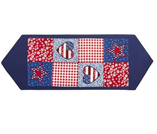 - Nantucket Home Classic Americana Patriotic Patchwork Appliques Table Runner 36