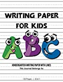 Kindergarten writing paper with lines for ABC kids Writing Paper for kids with Dotted Lined 120 pages 8.5x11 Handwriting Paper