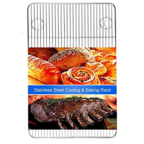 Heavy Duty Cooling Racks Onmexto Stainless Steel Wire Rack 11.42x17.52 Inches Fits Half Sheet Oven Safe Chief Quality for Roasting Baking and Grilling