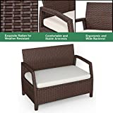 Tangkula Bench Couch Chair Patio Furniture