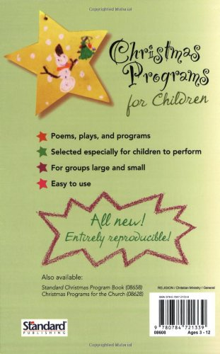 christmas programs for children holiday program books standard