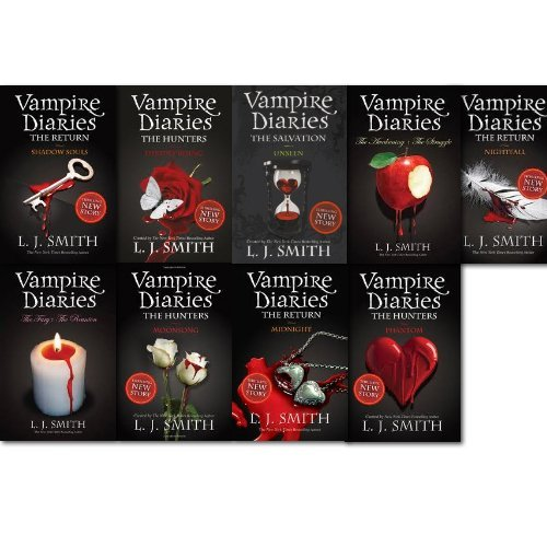Vampire Diaries Collection Series 1-11, 9 Books set, By L J Smith Unseen, Destiny Rising, Moonsong, Phantom, Shadow Souls, Nightfall, the Fury+The Reunion and The Awakening: AND The Struggle)