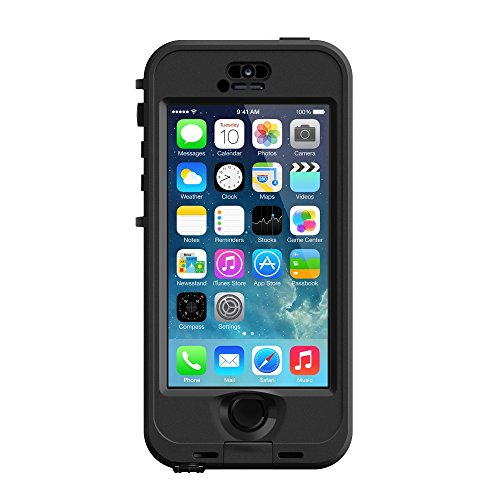 LifeProof NÜÜD SERIES Waterproof Case for iPhone 5/5s/SE - Retail Packaging - BLACK (BLACK/SMOKE) (Nuud Iphone 5 Case)