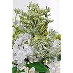 Artificial-White-Freesia-Tuberose-Floral-Vase-Table-Display