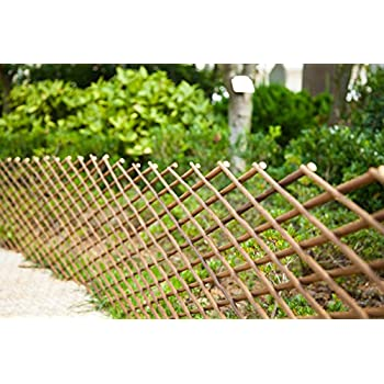 Superb FASHION GARDEN Willow Expandable Fence 39x78 INCH