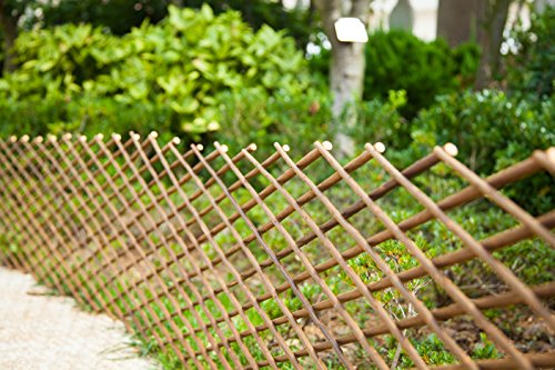 FASHION GARDEN Willow Expandable Fence 35x78 INCH (2) -