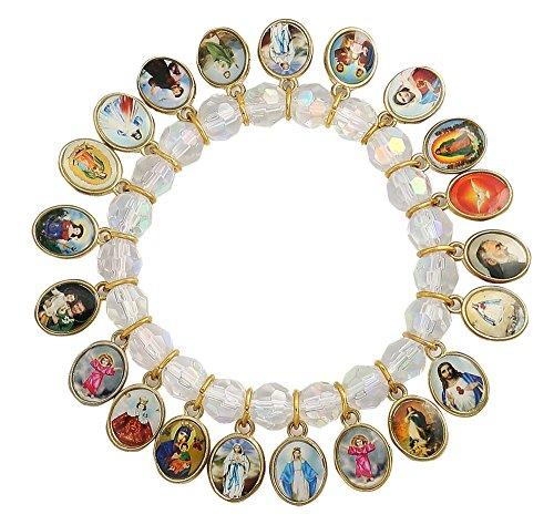 Catholic Religious Crystal Stretch Bracelet product image